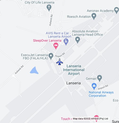 Pty Airport Map Lanseria Airport, Johannesburg   Google My Maps