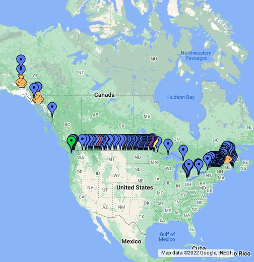 US Canada Border Crossings - Us canada border crossings map