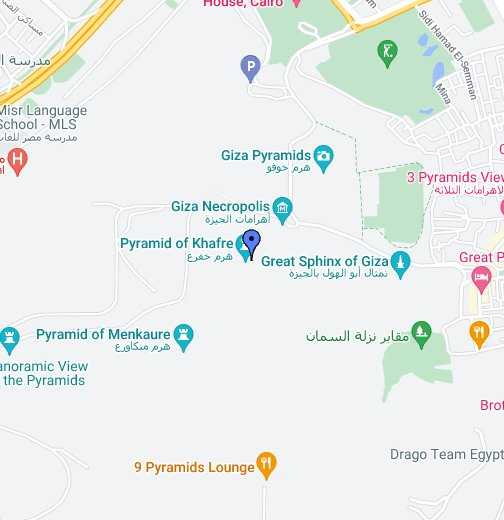 The Great Pyramids - Map of egypt great pyramids