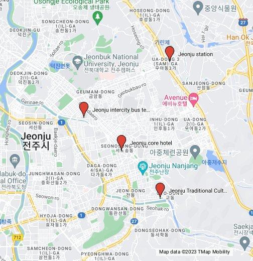 Jeonju City - Jeongju map