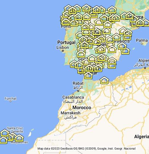 Paradores De España Mapa.Mapa De Paradores Google My Maps
