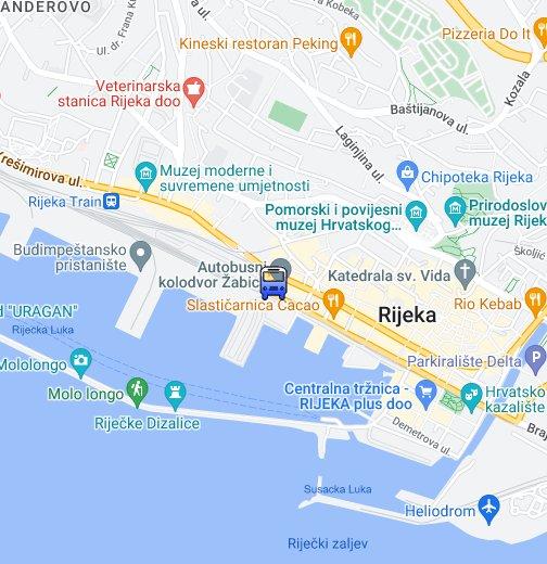 Autobusni Kolodvor Rijeka Google My Maps