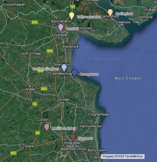 Map Of Ireland Louth.Co Louth Ireland Google My Maps