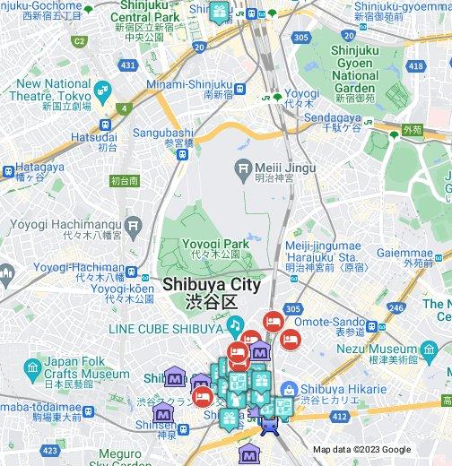 Shibuya Shopping - Google My Maps