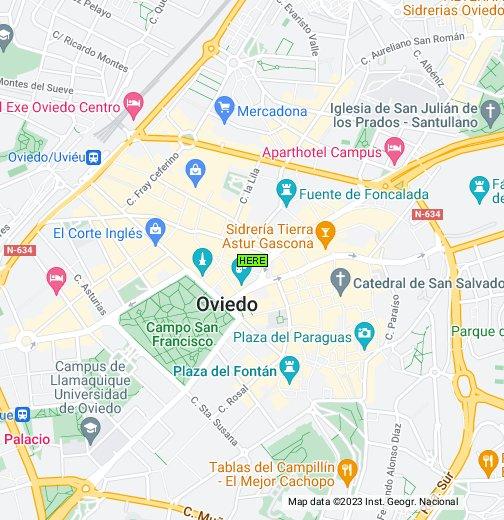 Mappa Spagna Oviedo.Oviedo Spain Google My Maps