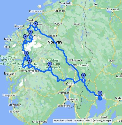 karta vägbeskrivning Resa till Geiranger och trollstigen Norge   Google My Maps karta vägbeskrivning