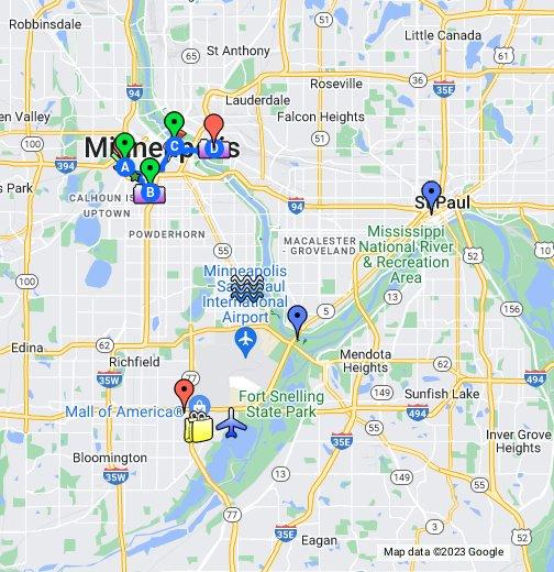 Minneapolis - Google My Maps