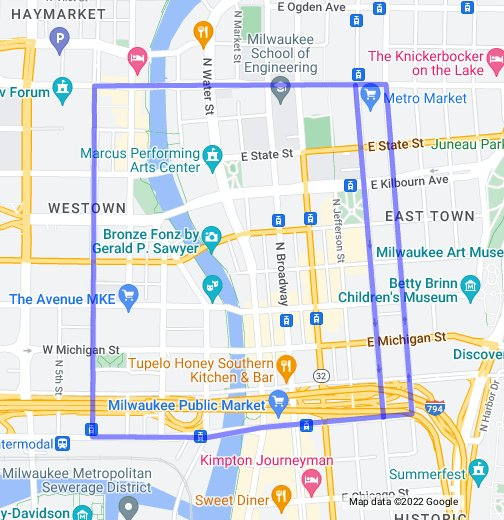 Milwaukee Streetcar Map - Google My Maps