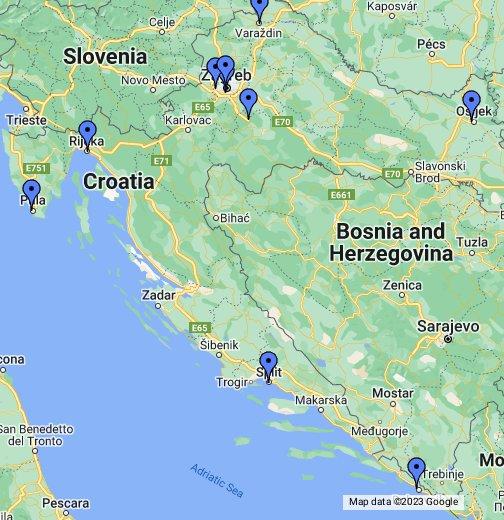 Eduro Poslovnice Google My Maps