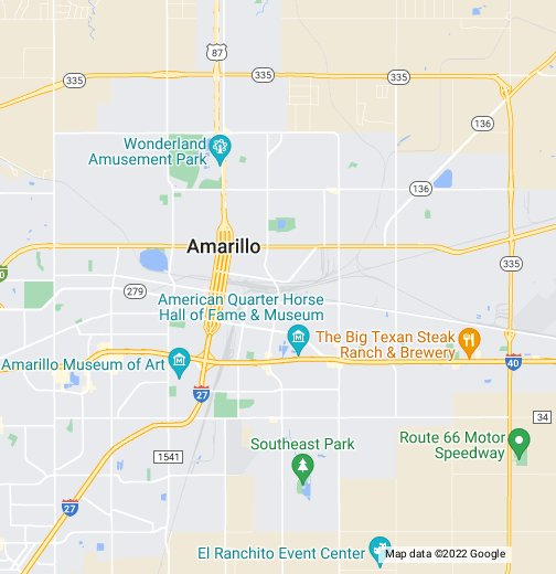 Amarillo TX - Map of amarillo texas