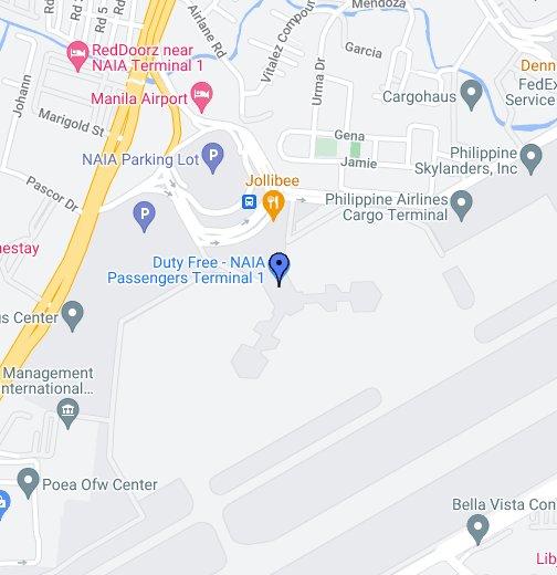 Ninoy Aquino International Airport Terminal 1 Map NAIA (Ninoy Aquino Internationa Airport)   Google My Maps