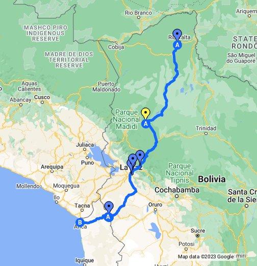 Top Gear Bolivia Map - Google My Maps