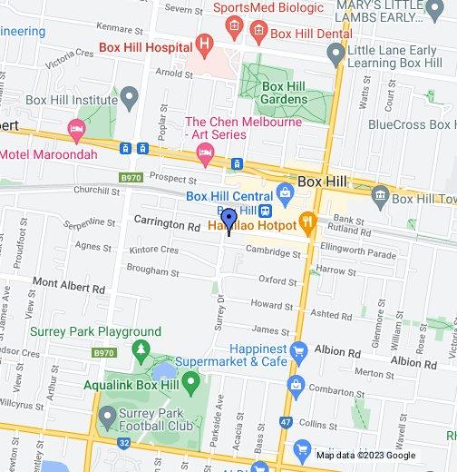 Box Hill - Google My Maps Map Box on