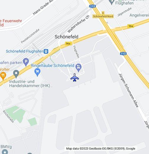 berlin schoenefeld airport map Berlin Schonefeld Google My Maps berlin schoenefeld airport map