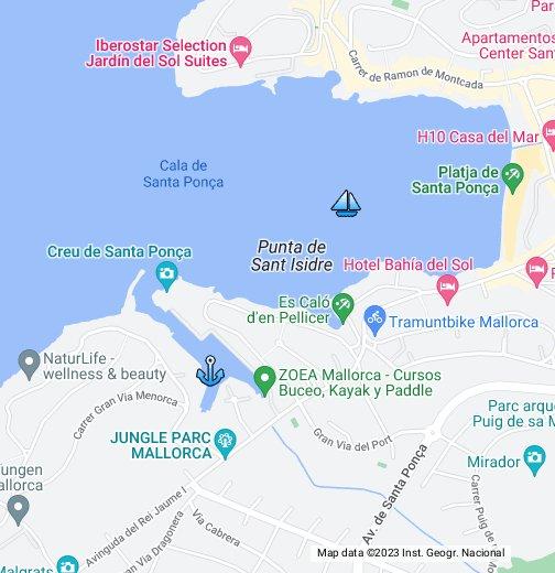 Map Of Santa Ponsa In Mallorca Google My Maps