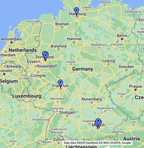 erdgastankstellen karte deutschland Erdgas Tankstellen – Google My Maps