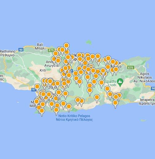 Kreta Karte Stalis.Heraklion Crete Google My Maps