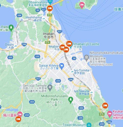 愛媛県今治市「ふるさと納税」しまなみ海道沿いのホテル - Google マイマップ