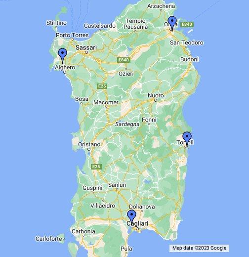 Cartina Sardegna Con Aeroporti.Aeroporti Sardegna Google My Maps
