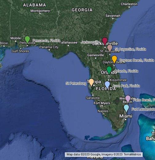 Karte Florida Miami.Florida Google My Maps