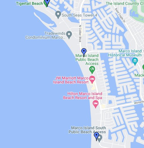 Marco Island Beaches - Google My Maps