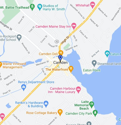 Map Of Me Camden Maine   Google My Maps