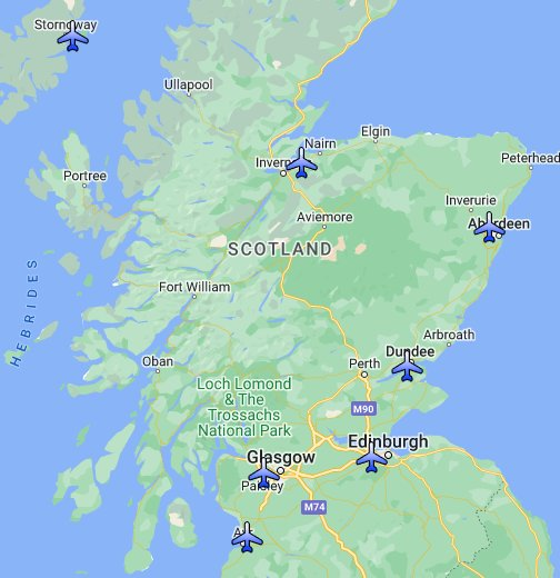 Map of Airports in Scotland - Google My Maps