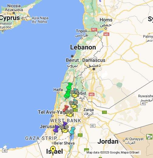 Israel Tierra De Jesús Google My Maps