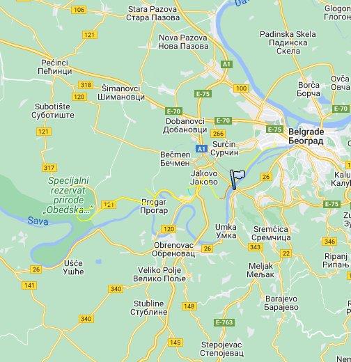 Beograd Obedska Bara Google My Maps