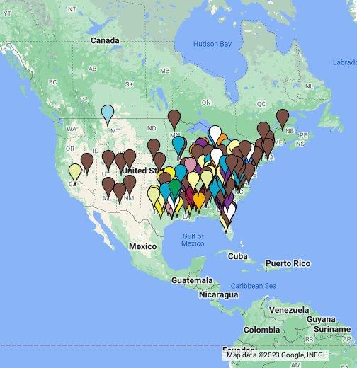 Active Ku Klux Klan Groups - Kkk map in the us