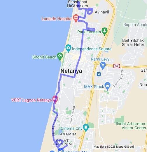 מתוחכם קו 79- נתניה פנימי (רסקו- שכונות דרומיות) - המפות שלי ב-Google JJ-71