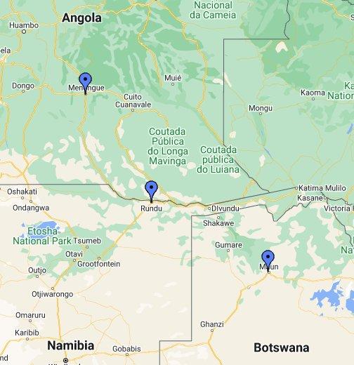 Okavango River Basin - Google My Maps Okavango Basin Information System