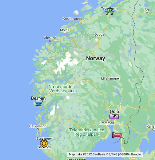 The Five Biggest Cities In Norway - Norway map kristiansund