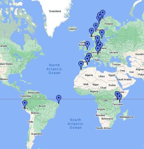 verdens kart Verdenskart   Google My Maps