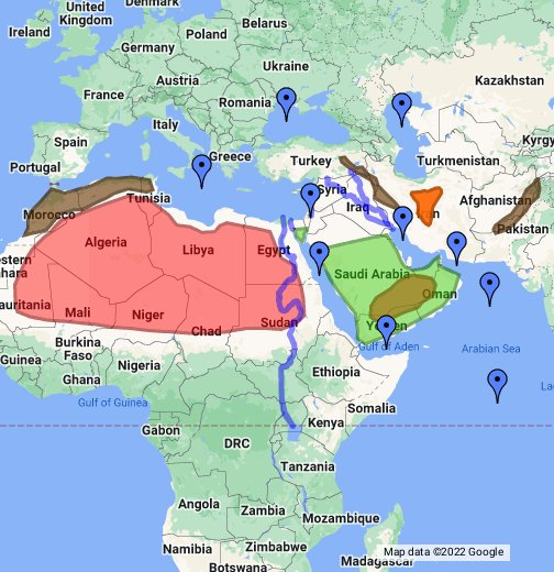 North Africa  The Middle East