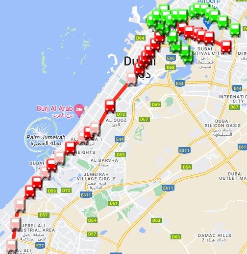 Dubai Metro Google My Maps