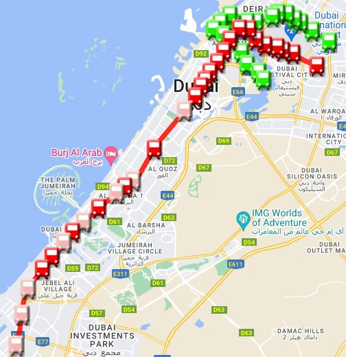 Dubai Metro - Google My Maps on