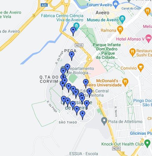 aveiro mapa google Mapa da Universidade de Aveiro   Google My Maps aveiro mapa google