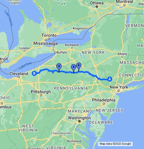 US Route Pennsylvania - Map of penna