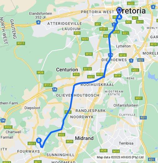 Pretoria map - Google My Maps