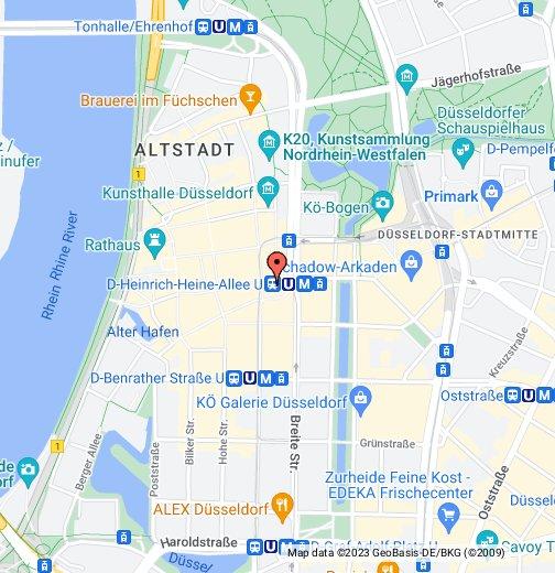 düsseldorf altstadt karte Weihnachtsmarkt am Heinrich Heine Platz in Düsseldorf – Google My Maps