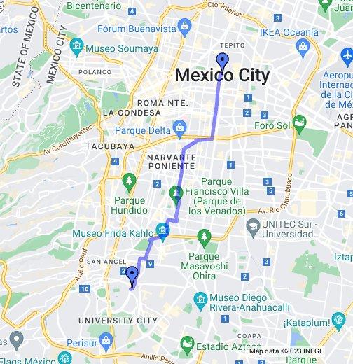 Cycling from Mexico City Centre to Ciudad Universitaria UNAM ...