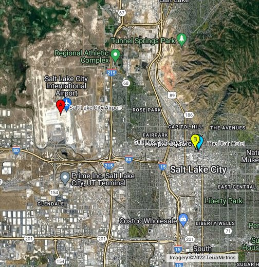 Map Salt Lake City Salt Lake City, Utah, USA   Google My Maps