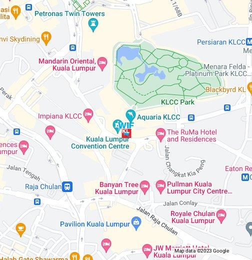 Kuala Lumpur Map Kuala Lumpur Convention Centre (KLCC)   Google My Maps