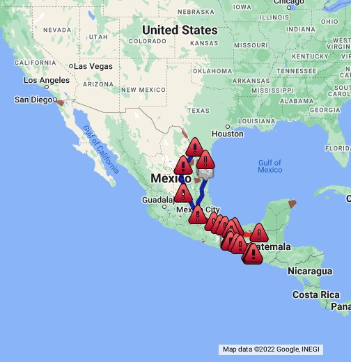 Insight Map The Dangerous Journey North For Migrants Google My Maps