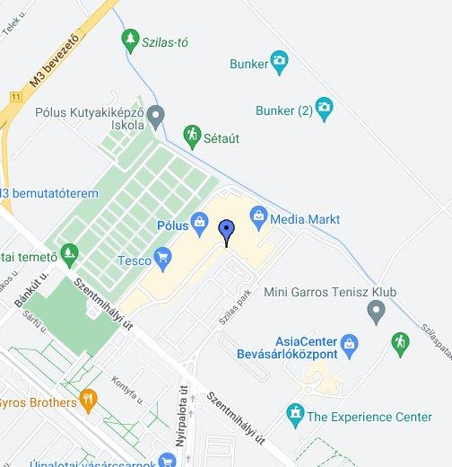 budapest szentmihályi út térkép Darts és biliárd szaküzlet   Pólus Center – Google Saját térképek budapest szentmihályi út térkép