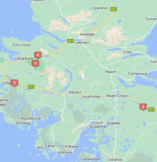 Connemara, Co. Galway, Ireland - Google My Maps on street map of hudson falls, street map of norwich, street map of cleveland, street map of birmingham, street map of boston, street map of florence, street map of exeter, street map of dundalk, street map of worcester, street map of ulster, street map of manchester, street map of york, street map of nassau, street map of barcelona, street map of rome, street map of oughterard, street map of dublin, street map of liverpool, street map of saratoga, street map of london,