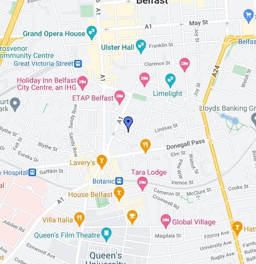Self Catering Belfast City Apartment - Google My Maps on goteborg city map, erfurt city map, ellsworth city map, cuenca city map, limassol city map, solitude city map, rijeka city map, a coruna city map, bolivar city map, waterville city map, delray beach city map, bulawayo city map, fortaleza city map, alma city map, santos city map, ennis city map, dingle city map, fife city map, pomeroy city map, yantai city map,