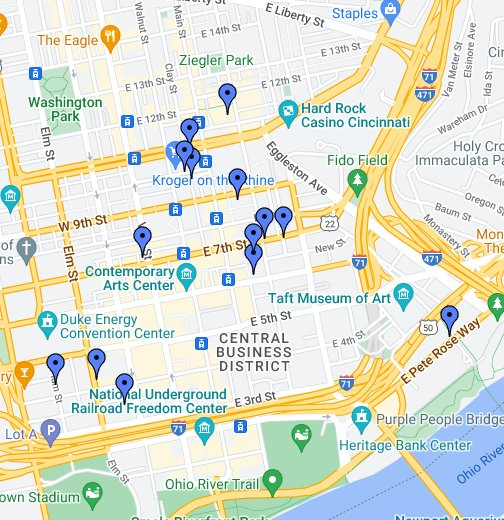Cincinnati Oh Google My Maps