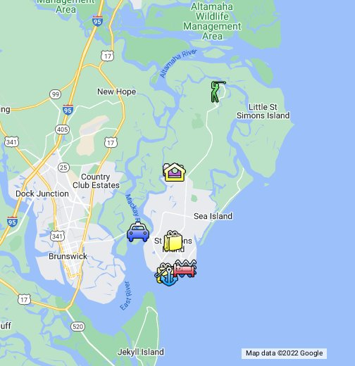 georgia atlanta map St. Simons Island Map   Google My Maps